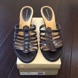 Naturalizer Brown Leather Wedges